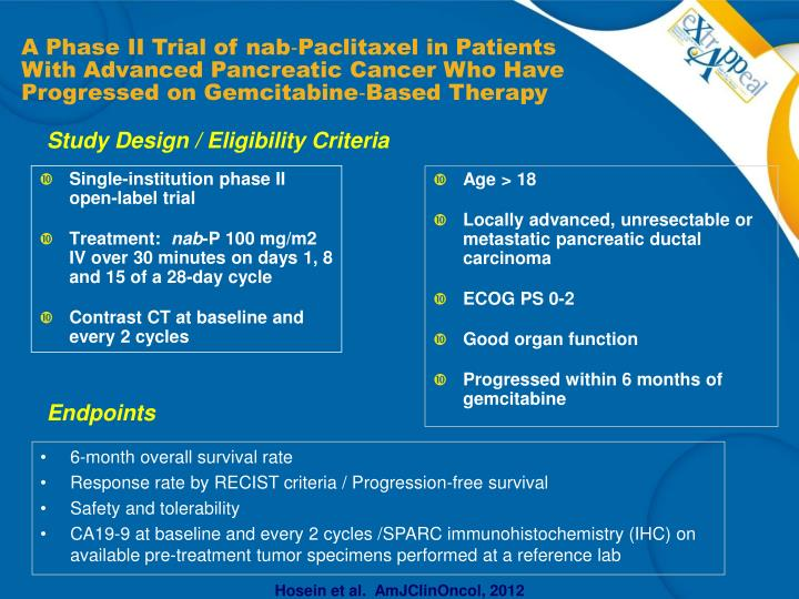 Single-institution phase II open-label trial