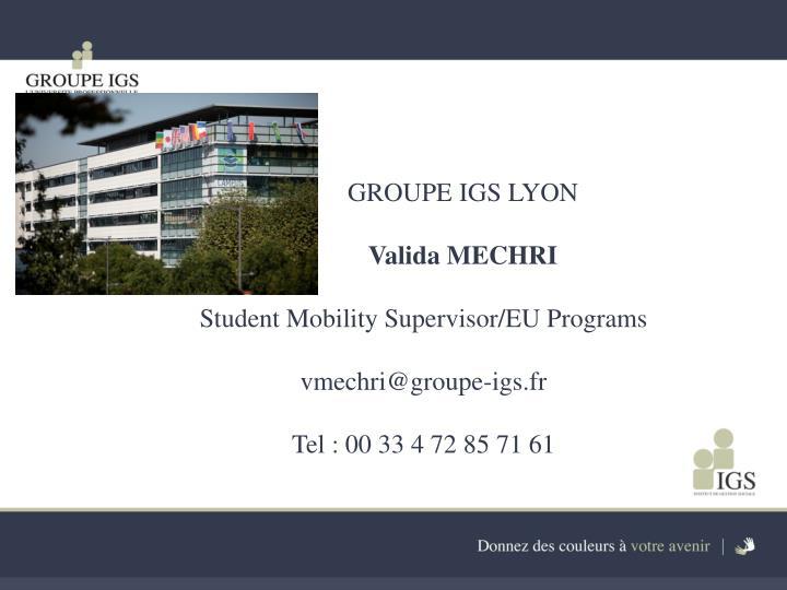 GROUPE IGS LYON