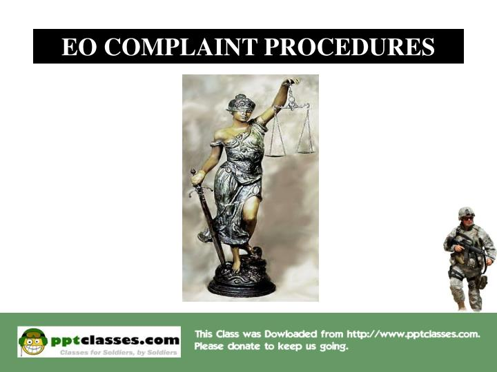 EO COMPLAINT PROCEDURES