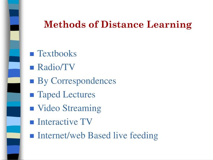 Methods of Distance Learning