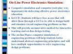 on line power electronics simulation
