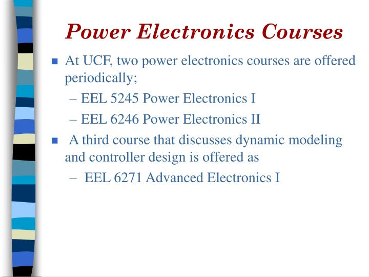 Power Electronics Courses
