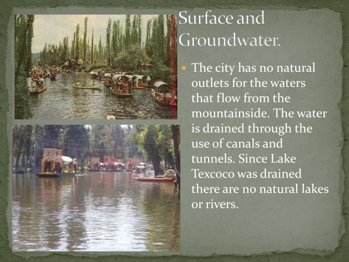 Surface and Groundwater.