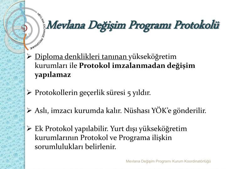 Mevlana Değişim Programı Protokolü