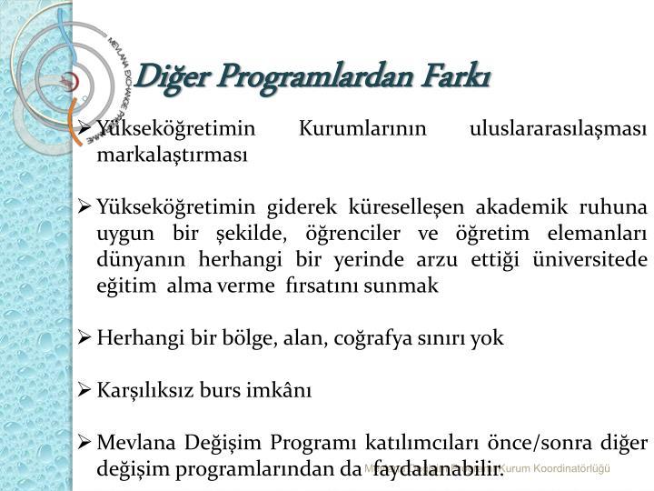 Diğer Programlardan Farkı