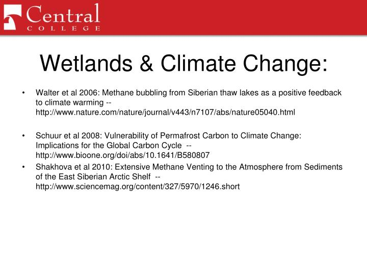 Wetlands & Climate Change: