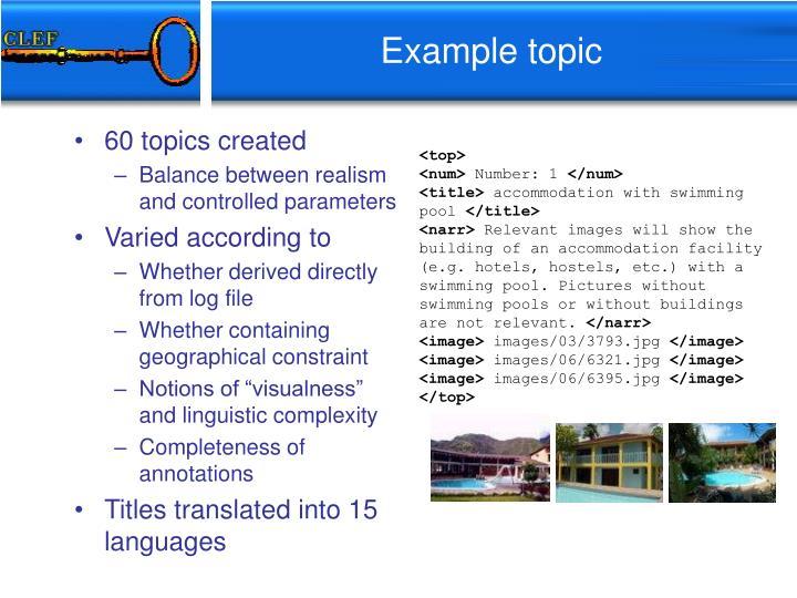 60 topics created