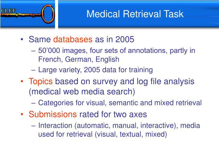 Medical Retrieval Task