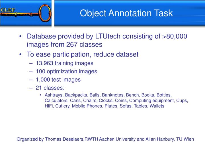 Object Annotation Task
