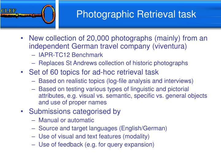 Photographic Retrieval task