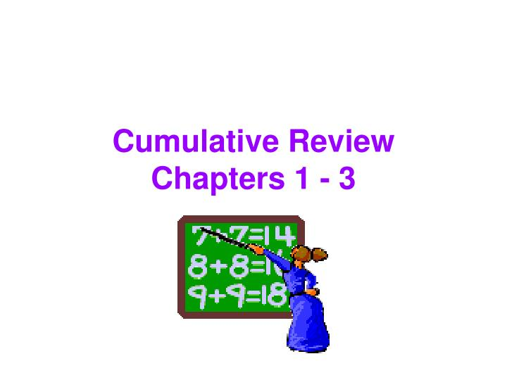 Cumulative review chapters 1 3
