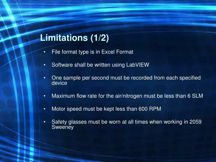 Limitations (1/2)