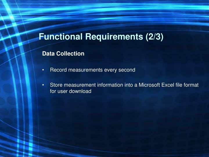 Functional Requirements (2/3)
