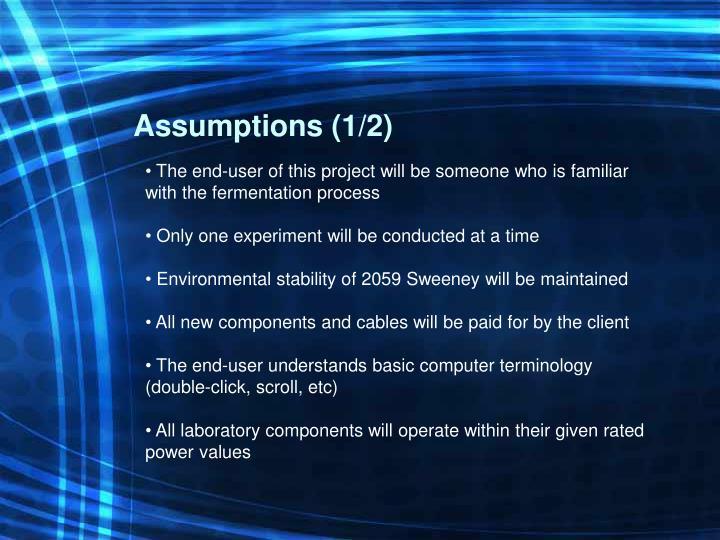 Assumptions (1/2)
