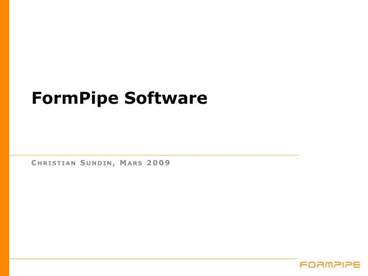 Formpipe software