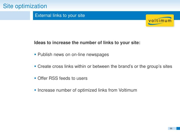 External links to your site