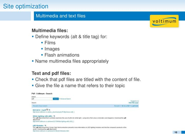 Multimedia and text files