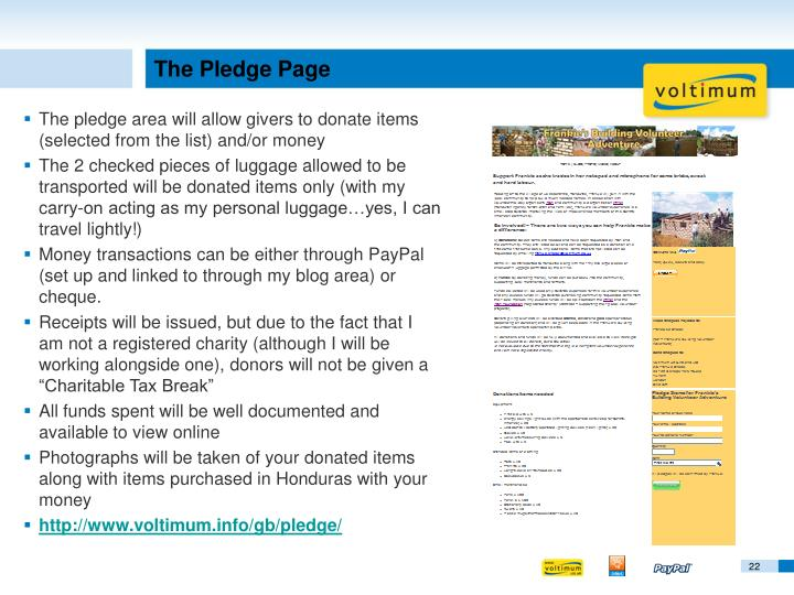 The Pledge Page