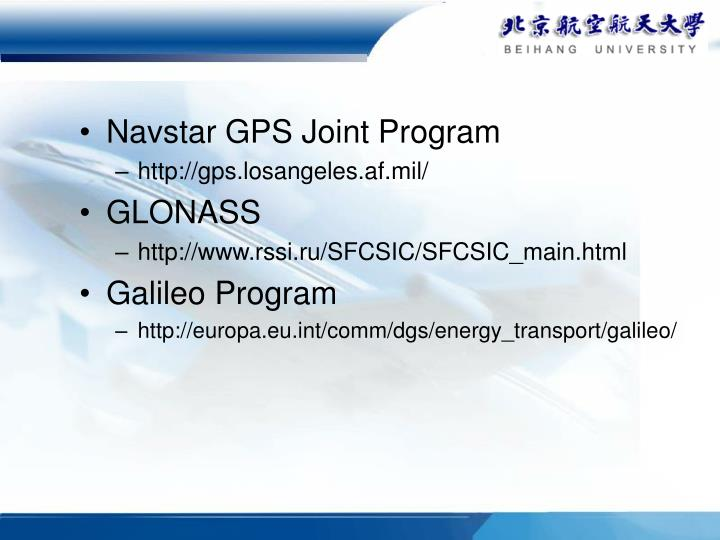 Navstar GPS Joint Program