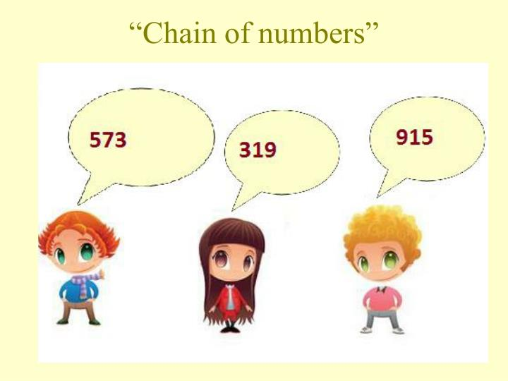 """Chain of numbers"""