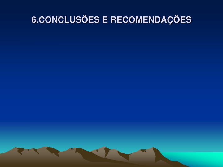 6.CONCLUSÕES E RECOMENDAÇÕES