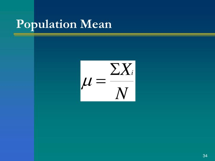 Population Mean