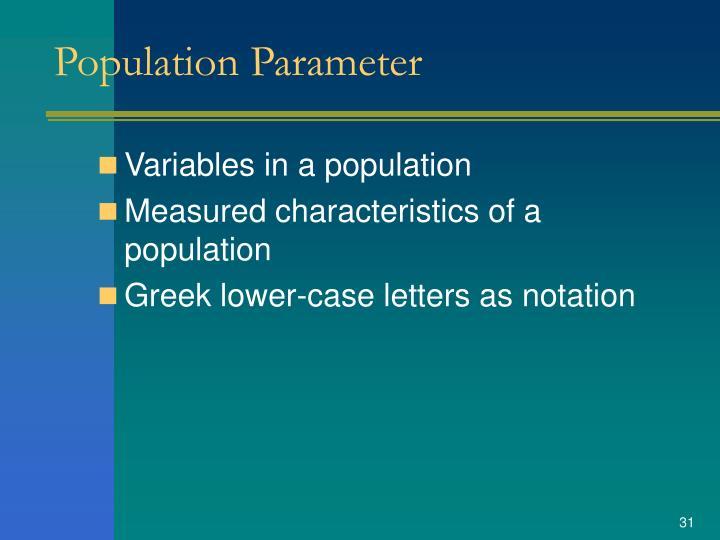 Population Parameter
