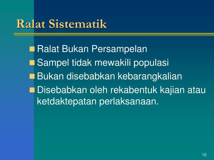 Ralat Sistematik