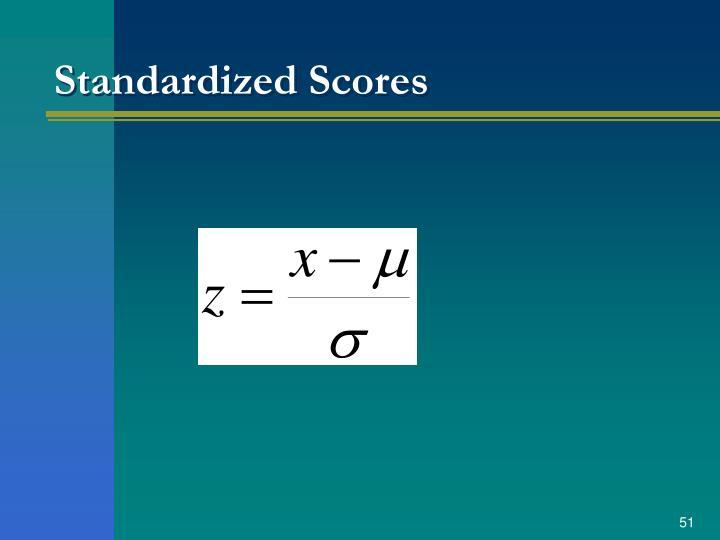 Standardized Scores