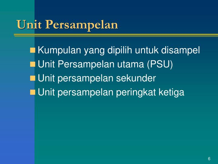 Unit Persampelan
