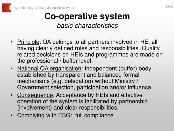 Co-operative system