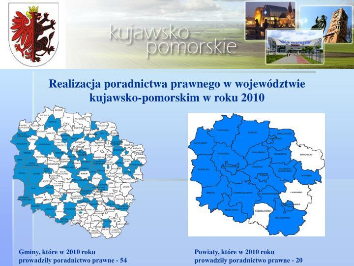 Realizacja poradnictwa prawnego w województwie