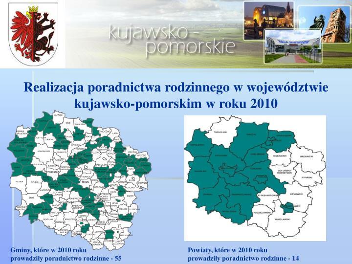 Realizacja poradnictwa rodzinnego w województwie