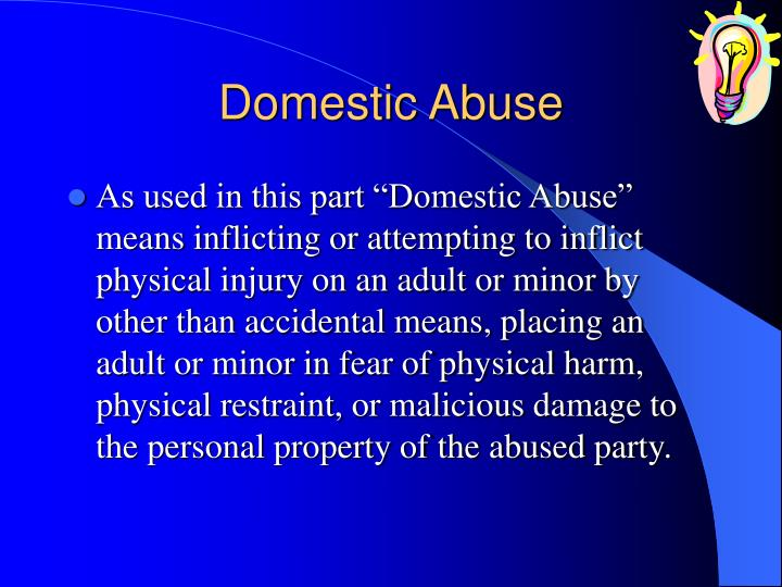 domestic violence powerpoint presentation