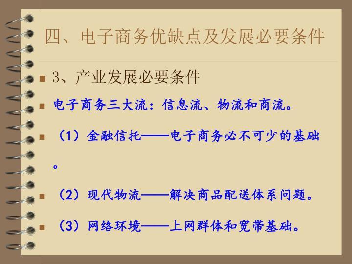 四、电子商务优缺点及发展必要条件
