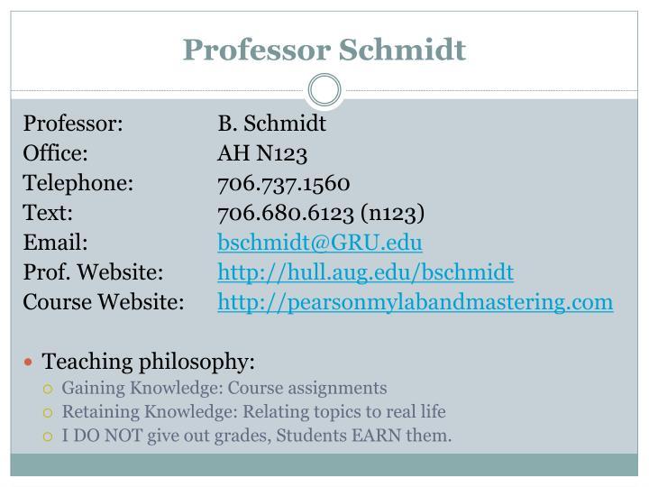 Professor Schmidt
