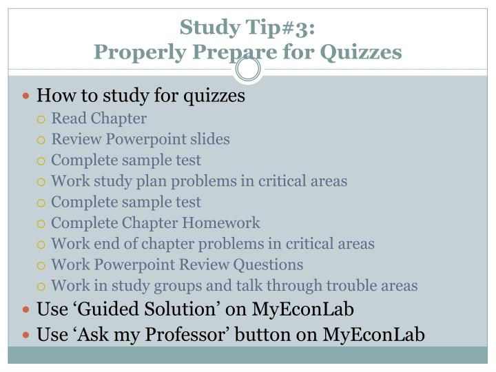 Study Tip#3: