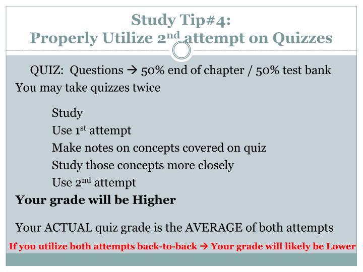 Study Tip#4: