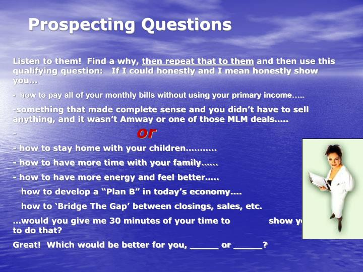 Prospecting Questions