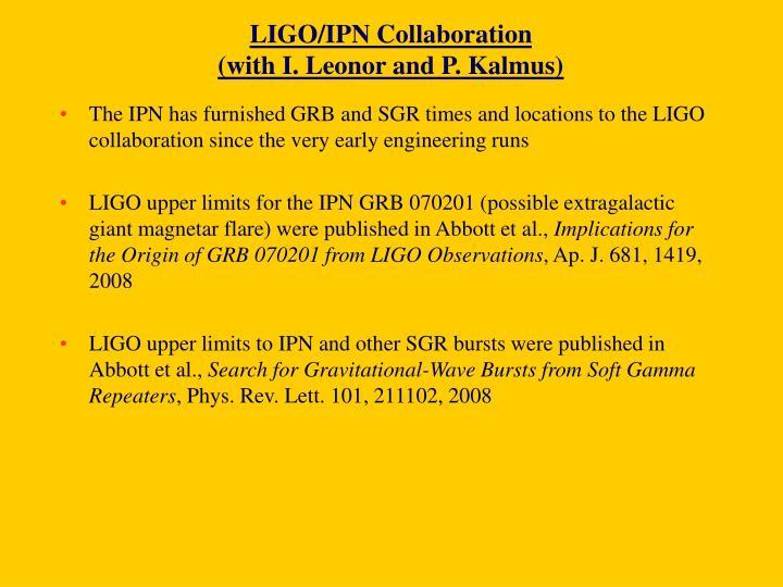 LIGO/IPN Collaboration