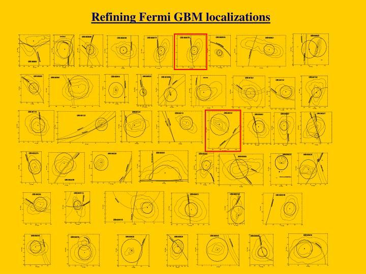 Refining Fermi GBM localizations