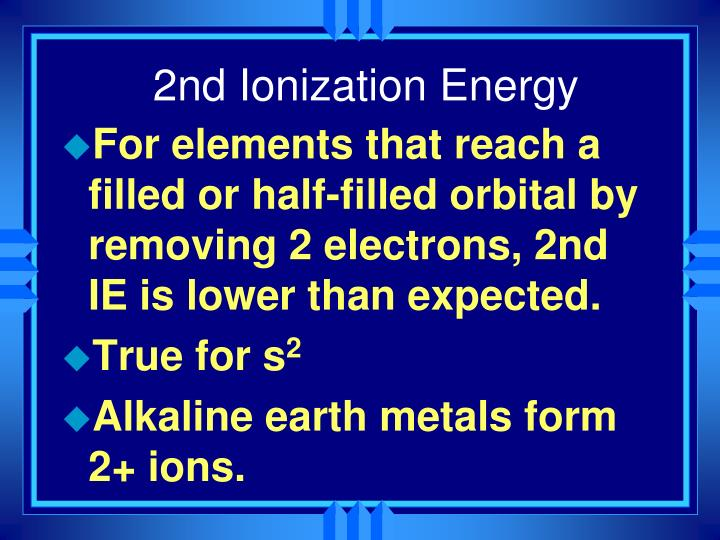 2nd Ionization Energy