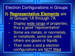 electron configurations in groups2