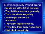 electronegativity period trend