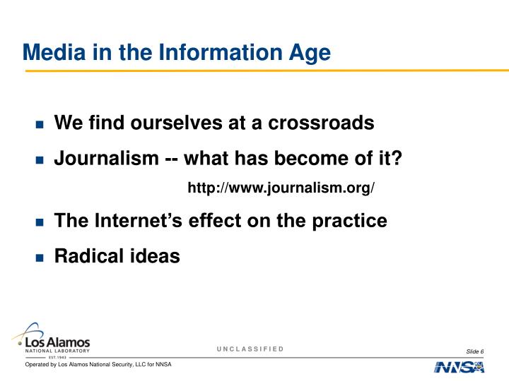 Media in the Information Age