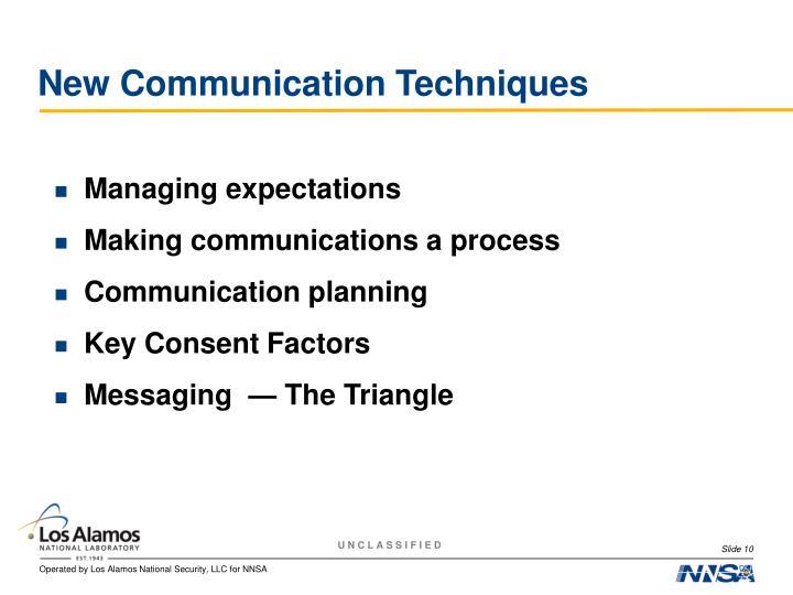 New Communication Techniques