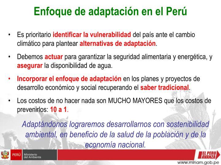 Enfoque de adaptación en el Perú