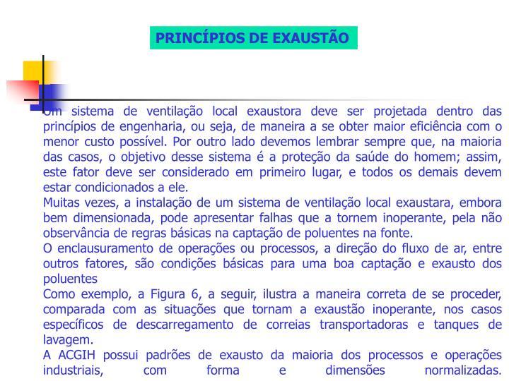 PRINCÍPIOS DE EXAUSTÃO