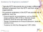 guidance for engineers available