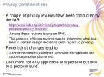 privacy considerations